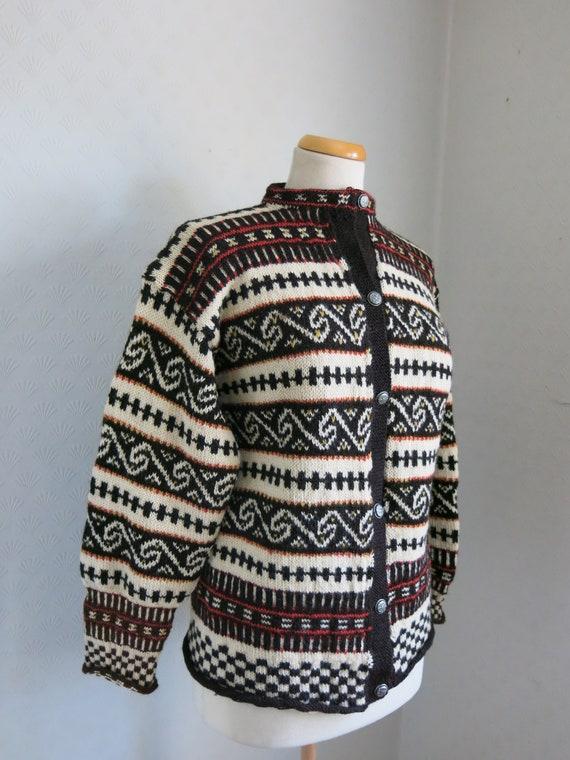 Traditional Norwegian Sweater Kofte Cardigan Wool