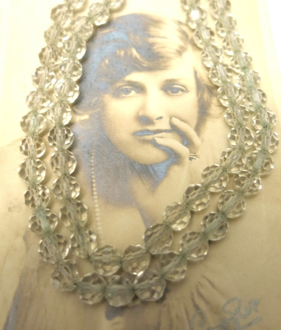 Two strand crystal necklace 30s 40s Art Deco