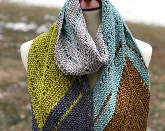 That's The Way Scarf Knitting Pattern, PDF