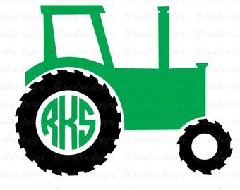 Tractor SVG, Tractor Monogram SVG, SVG Files, Cricut Cut Files, Silhouette Cut Files