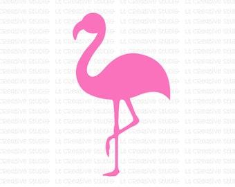 Flamingo SVG, Flamingo Silhouettet, Zoo SVG, Animal Svg, Beach Svg, SVG Files, Svg, eps, Silhouette Files, Cricut Files