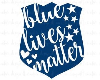 Blue Lives Matter SVG, Police Badge SVG, Police Support SVG, Svg files, Silhouette Files, Cricut Files, Eps Files