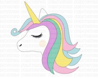 unicorn head svg unicorn svg unicorn clipart unicorn etsy