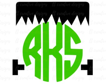 Frankenstein Monogram SVG, Frankenstein SVG, SVG Files, Halloween Svg, Halloween Frames Svg