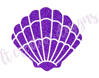 Mermaid Shell SVG, Mermaid SVG, Mermaid Clam Svg, Summer SVG, Cutting Files For Silhouette and Cricut, Svg Files
