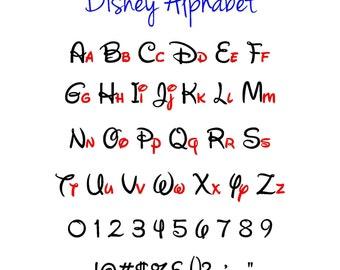 Disney Alphabet, Disney SVG, Disney SVG Alphabet, Vector Cutting Files, Alphabet Cutting File, Silhouette, Cricut, Studio, Digital Cut File