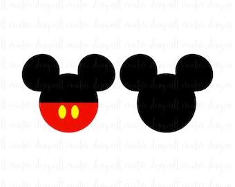 Mickey Mouse SVG Head Ears Disney Svg Silhouette Cricut