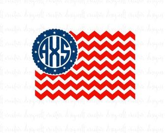 American Flag SVG, 4th Of July SVG, Chevon American Flag SVG, Svg Files, Cricut Files, Silhouette Files