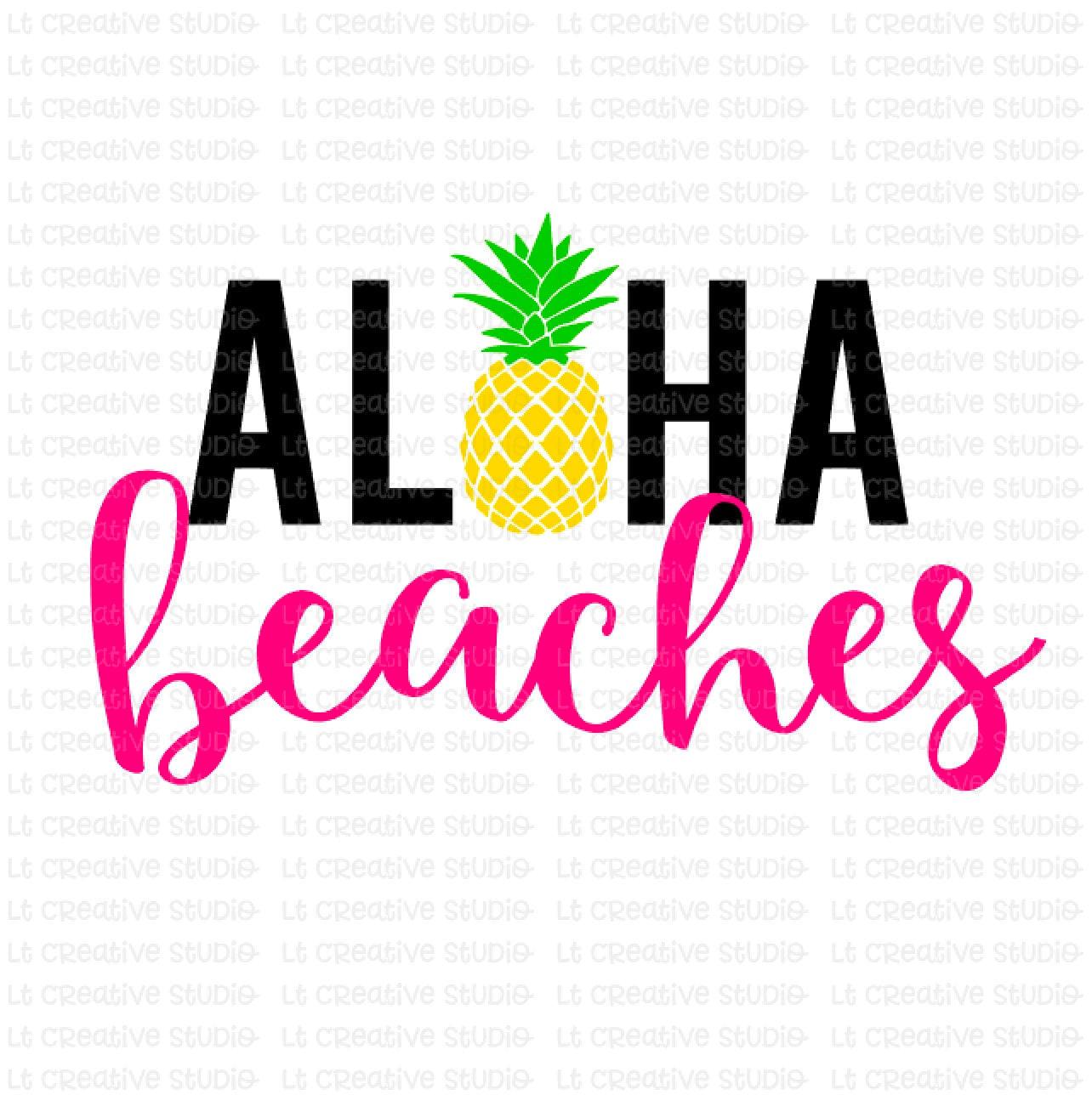 Aloha Beaches SVG Aloha Summer Summer SVG Beach Svg | Etsy