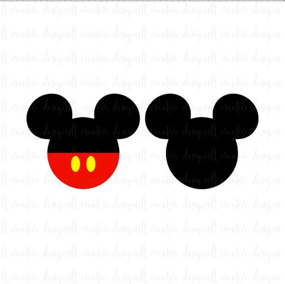 Mickey Mouse SVG, Mickey Mouse Head SVG, Mickey Mouse Ears SVG, Disney Svg, Silhouette, Cricut from LtCreativeStudio on Etsy Studio