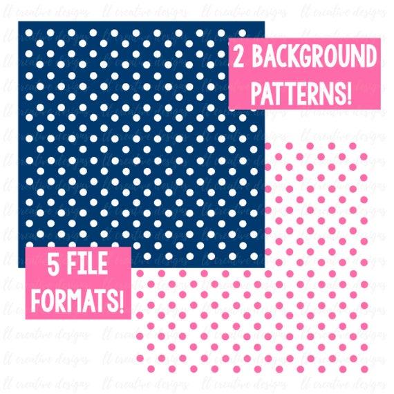 Polka Dot Background Pattern SVG Cricut Cut Files Silhouette Cut File SVG Files Adorable Cricut Patterns