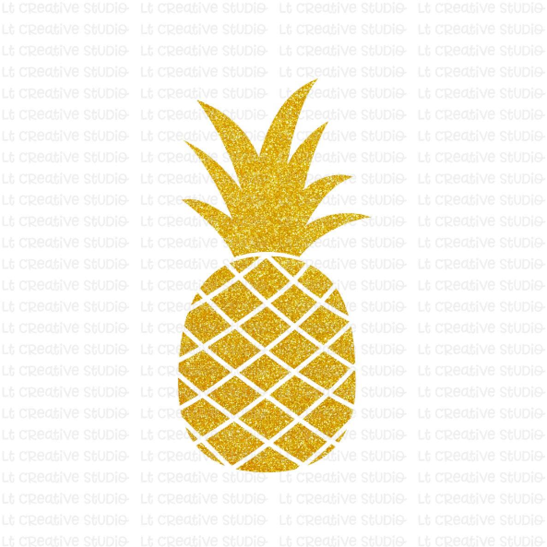 Pineapple SVG Glitter Pineapple Clipart SVG Files Cricut ...