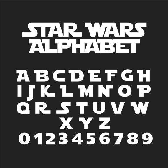 Star Wars Font Star Wars Alphabet Star Wars Svg Star Wars | Etsy