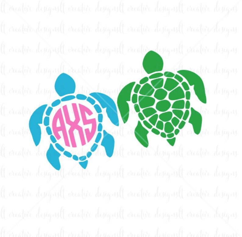 Tortugas Marinas Monograma Svg Svg De Tortugas Marinas Etsy