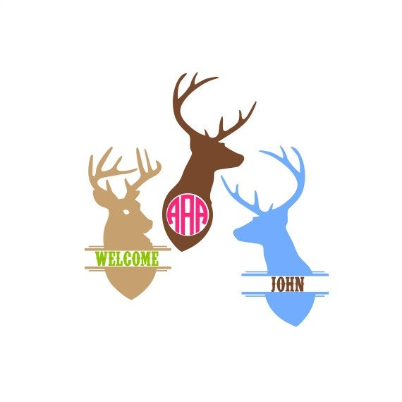 Deer Monogram Svg, Deer Monogram Frame, Country Monogram, Southern Svg,  Country Svg, Hunter Svg, Cricut Cut Files, Silhouette Cut Files