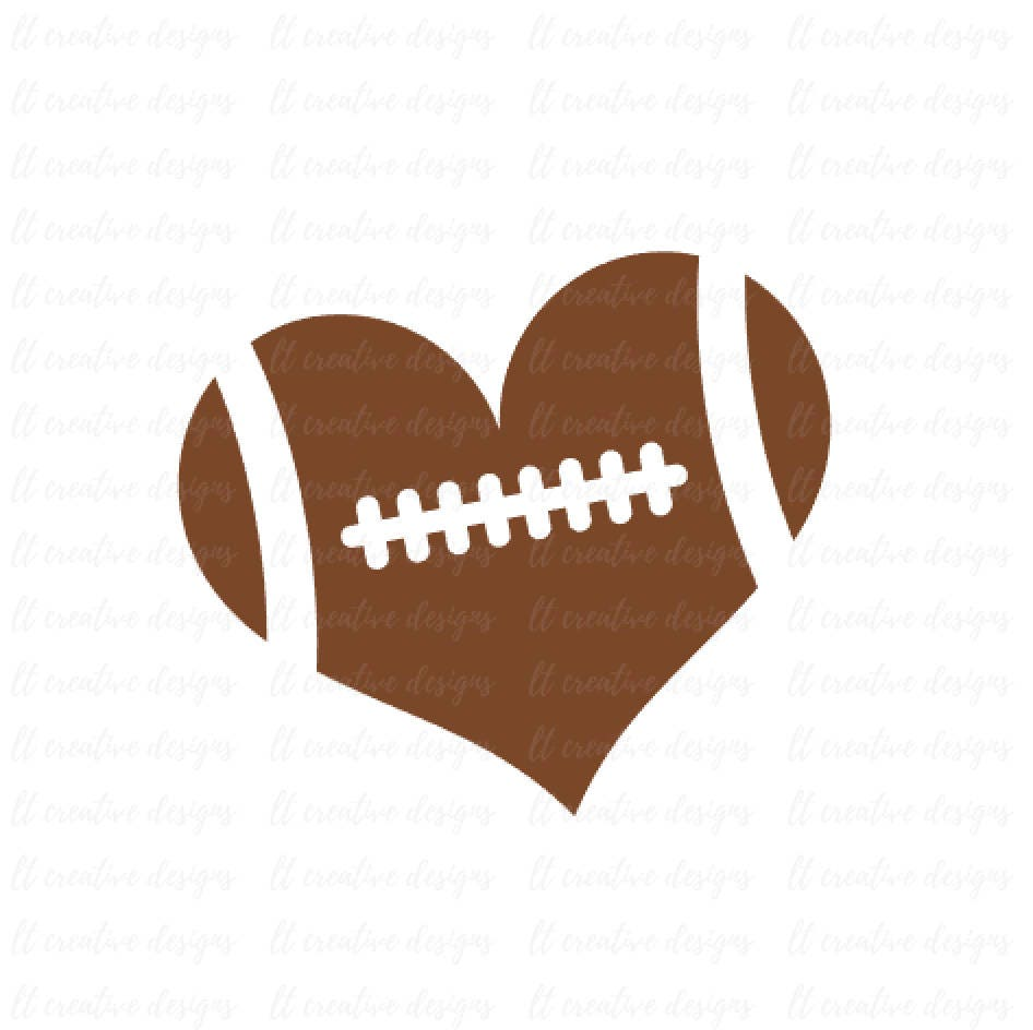 Football Heart Football Love SVG Football SVG Football Cut