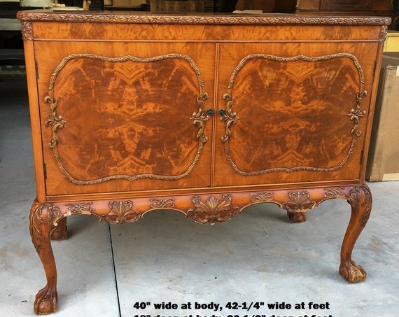 """Antique Bath VANITY - GORGEOUS In Stock Antique Claw Feet Buffet to be Converted and Painted ~ French Chic 40"""" to 42"""" Wide"""