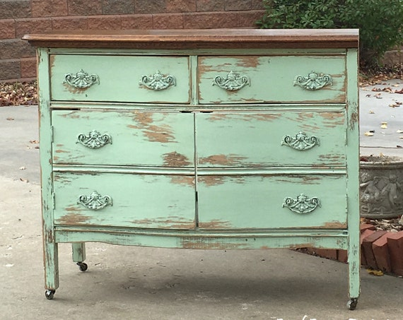 """BATHROOM VANITY ANTIQUE Rustic From Antique Dresser! 37"""" to 48"""" - We Find, Restore, Convert, Paint and Distress - Country Furniture"""