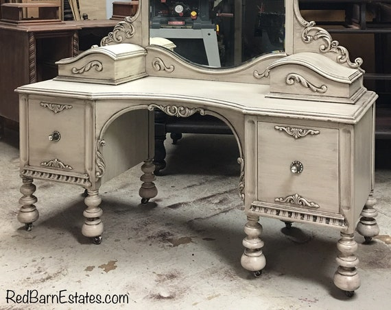 MAKEUP VANITY Ready To Ship! Buy Your Very Own Antique Vanity - French Country Chic - Custom Restored and Painted