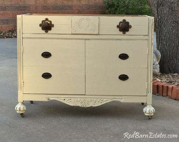 "BATHROOM VANITY To Custom Order! Antique Dresser We Will Convert Into Bath Cabinet! ~ 28"" to 48"" Wide ~ Shabby Chic Painted"
