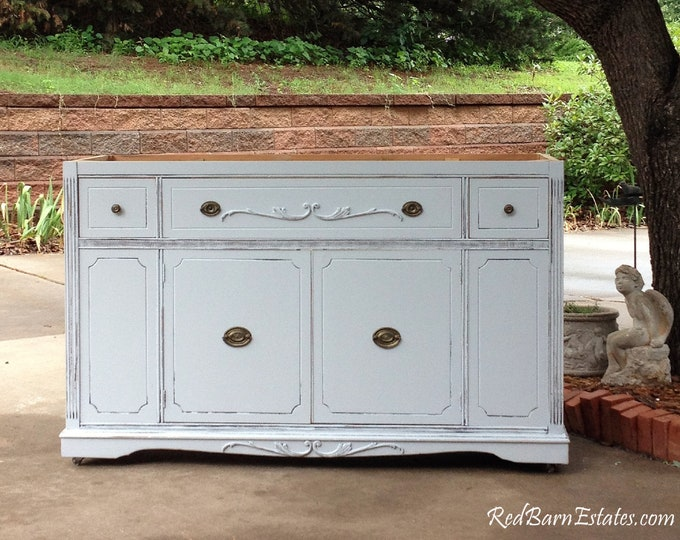 BATHROOM VANITY For Double or Single Sink We Custom Convert from Antique Dresser Shabby Chic Furniture Bathroom Vanity Cabinet