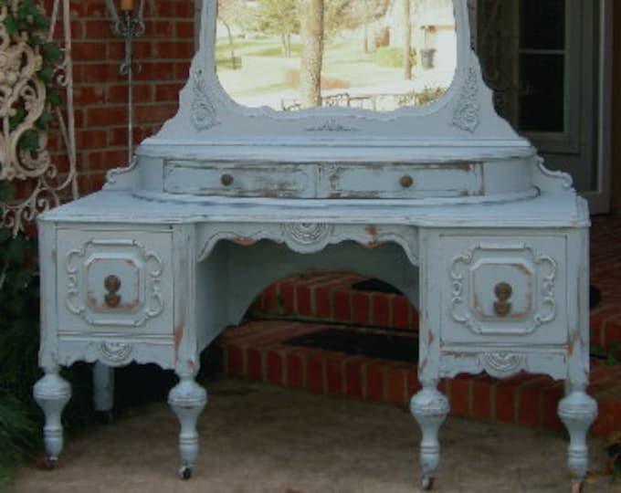 VANITY In Your Color! Order Your Own Antique Vanity - Shabby Chic Makeup Vanity - Custom Painted Vanity GORGEOUS!