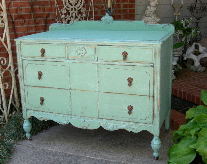 PAINTED DRESSER Order Your Own Lowboy Dresser Chest Bureau Custom / Shabby Chic Painted Restored Antique Shabby Chic Furniture