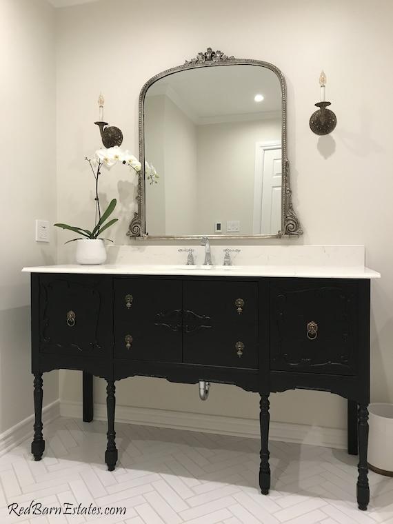 Antique Bathroom Vanity For Single Or Double Sink We Custom Etsy
