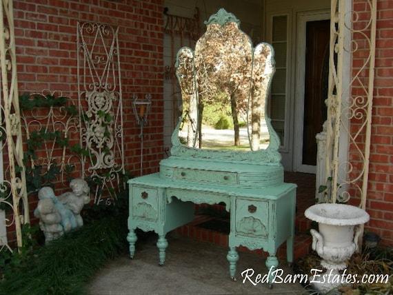 image 0 - MAKEUP VANITY Custom Order An Antique Dresser Shabby Chic Etsy