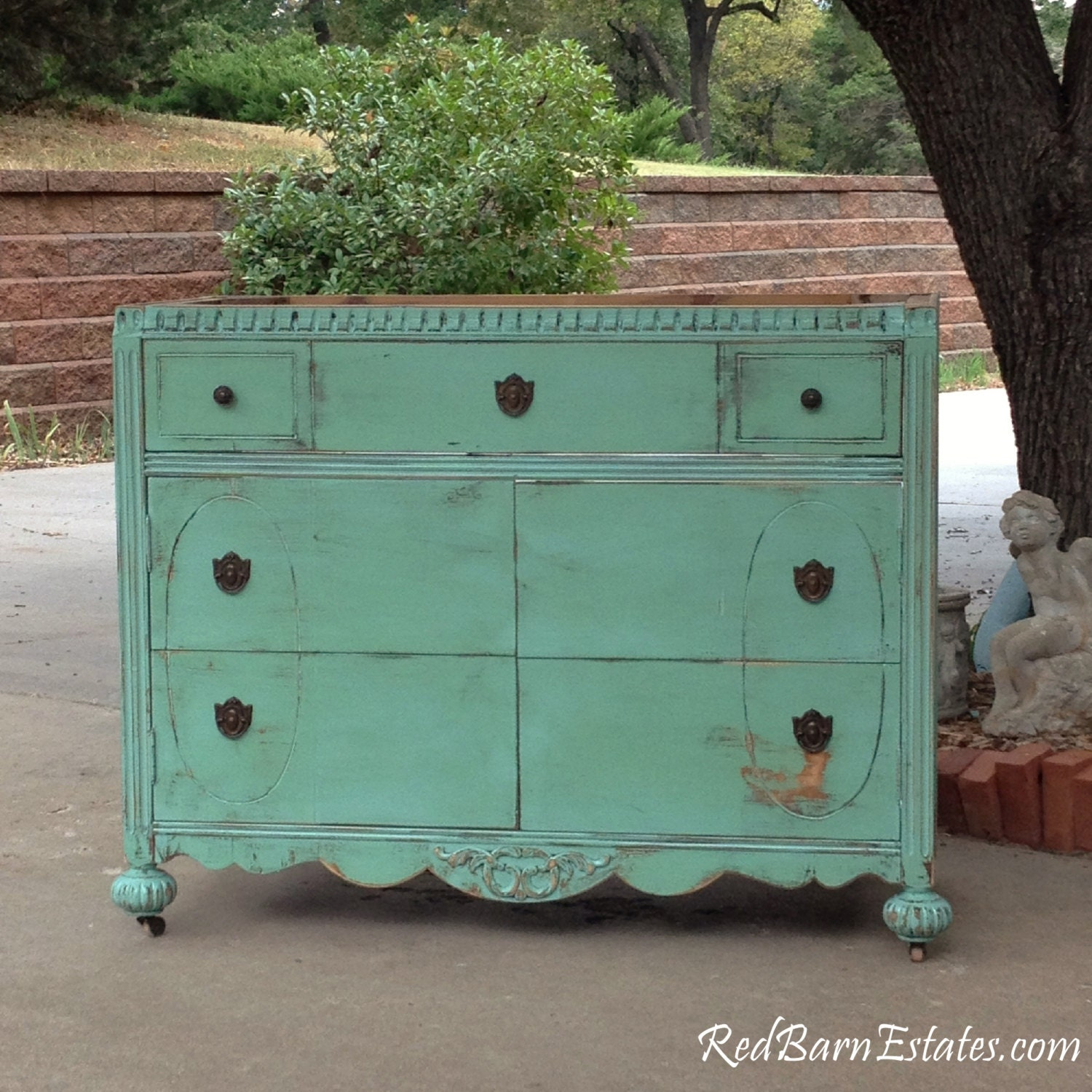 Bathroom Vanity Shabby Chic Bathroom Furniture Vanity Cabinet Converted From Antique Dresser Painted In Your Color 37 To 48