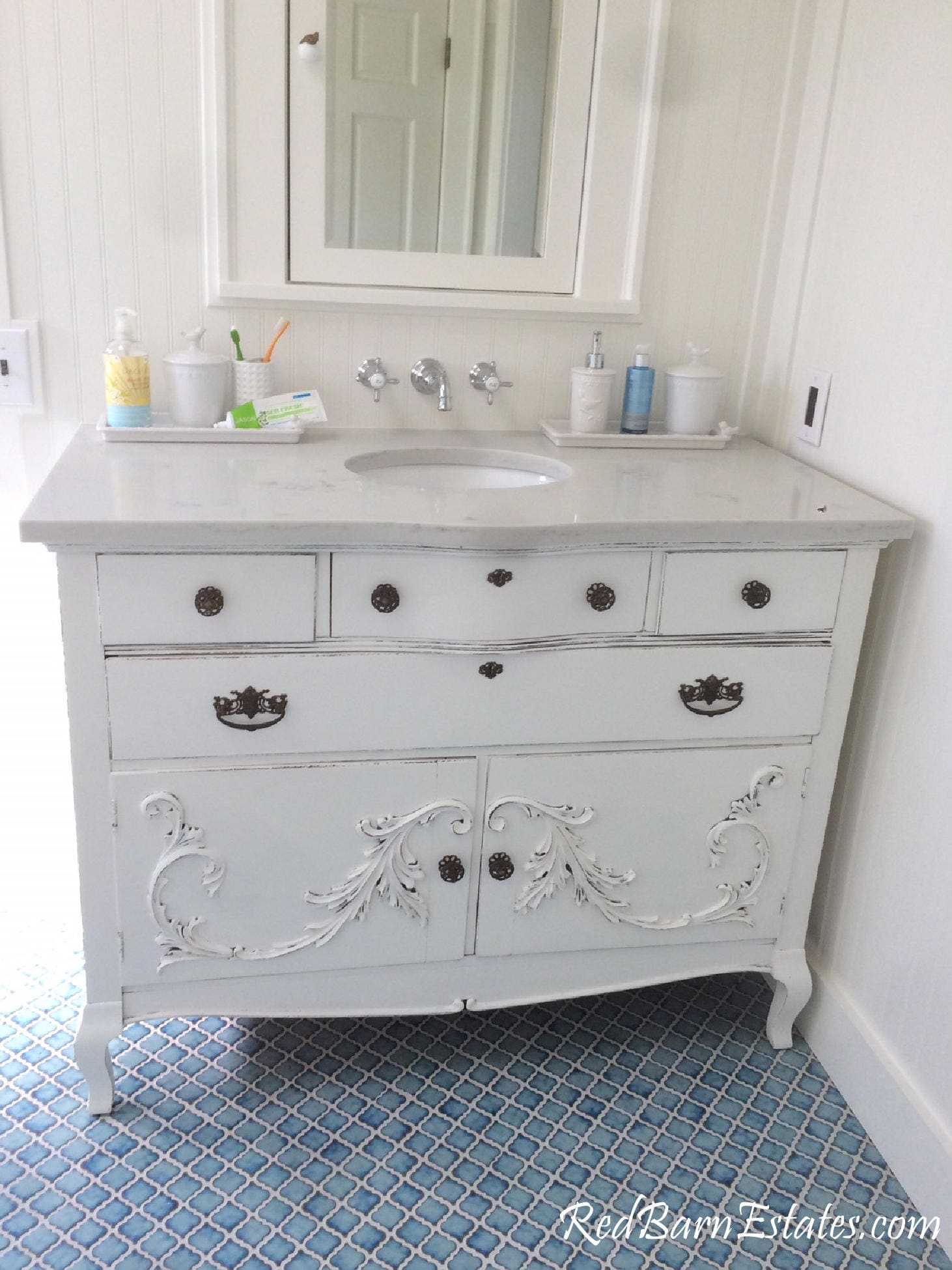 Bathroom Vanity Custom Converted TO ORDER From Antique Dresser