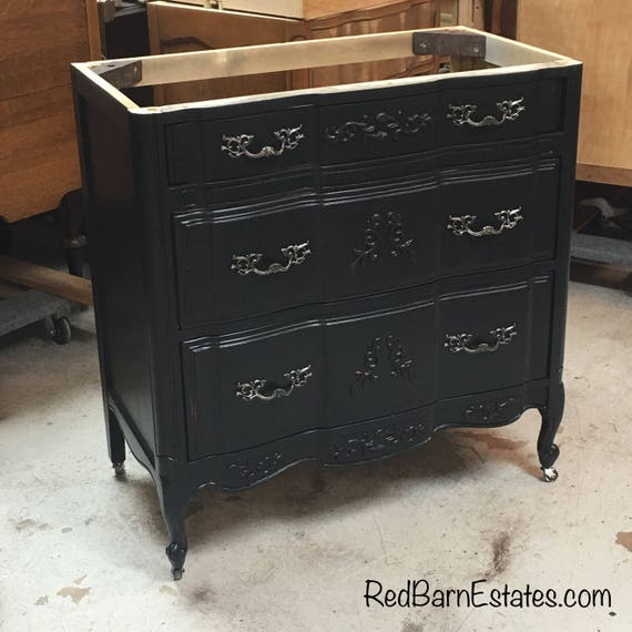"ANTIQUE BATHROOM VANITY We Convert From Dresser Sourced For You - Custom - Renovation - Remodel - Building - 28"" - 33"" - French Provincial"