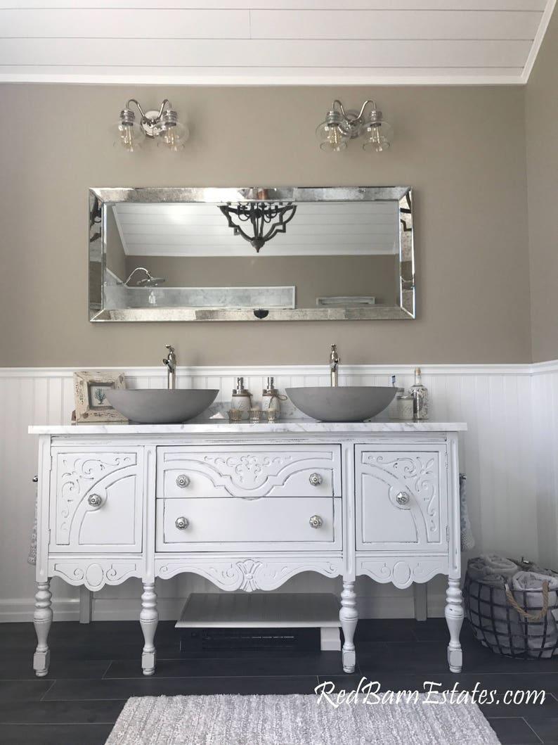Bathroom Vanity Double Or Single We Custom Convert From Etsy