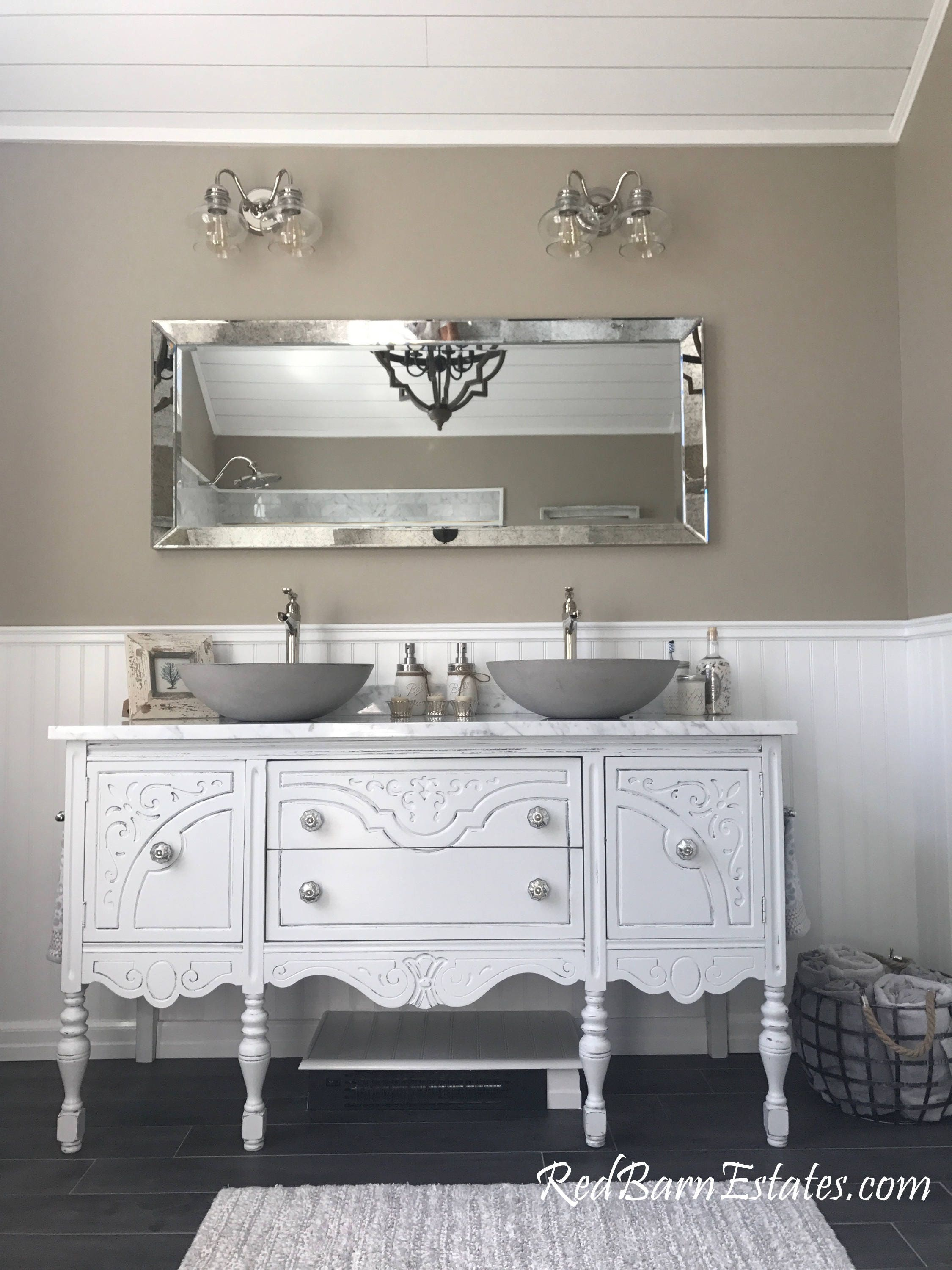 Antique Bathroom Vanity Double Or Single We Custom Convert From Antique Furniture For You Victorian Farmhouse Reno 61 To 66 Wide Long