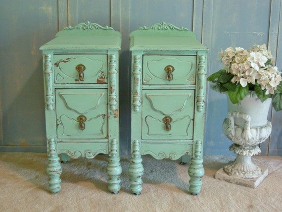 2 NIGHTSTANDS - Restored Pair of Antique Nightstands - Perfect For Your Little Girl or Boy, Princess or Prince - Paint Any Color