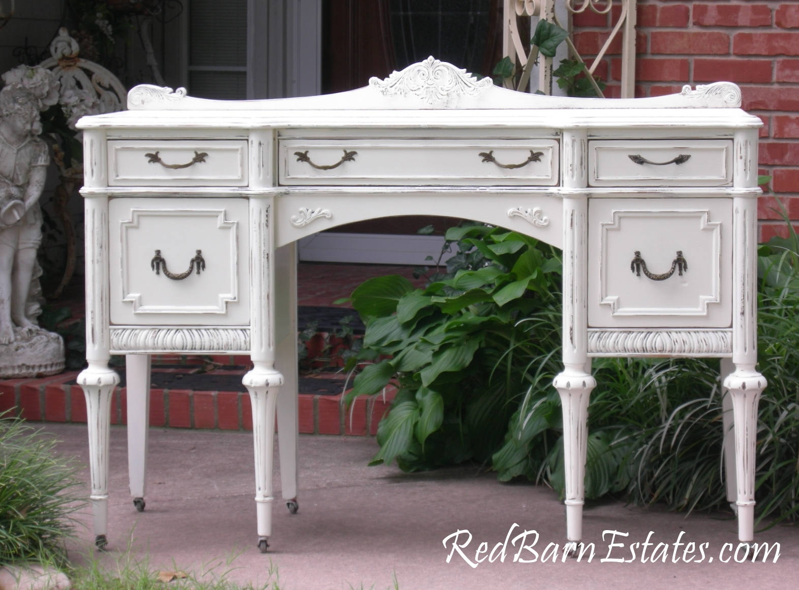 🔎zoom - ANTIQUE DESK Custom Order Your Own Painted To Order The Shabby Etsy