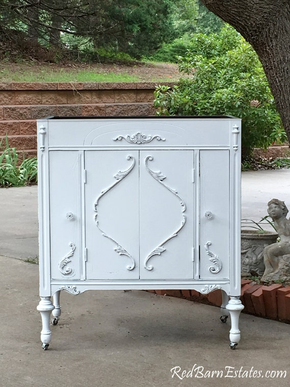 Bathroom Vanity Antique Shabby Chic Bathroom Vanity Cabinet Etsy