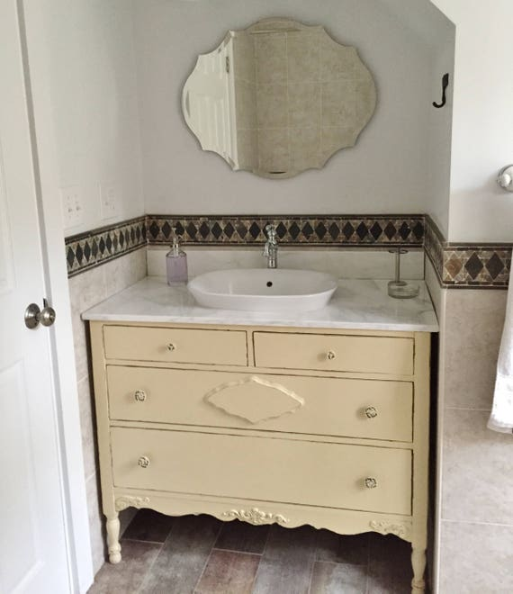 Bathroom Vanity From Antique Dresser Custom Order In Your Etsy