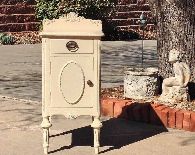 1 CUSTOM Ordered PAINTED NIGHTSTAND! Paint In Your Color Shabby Chic Furniture Antique Nightstand Bedside Table