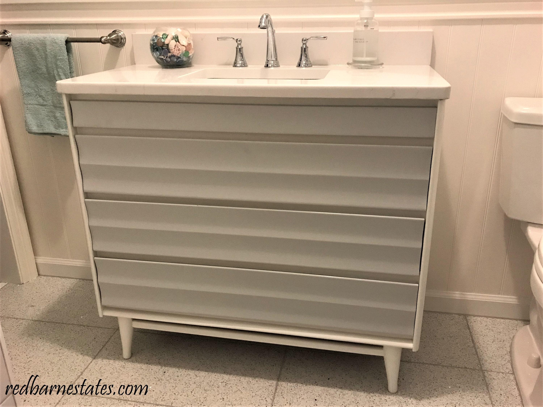 Mid Century Modern Bathroom Vanity Custom Converted From A 1950 S Dresser Painted Bathroom Vanities Midcentury Modern 30 To 48 Wide