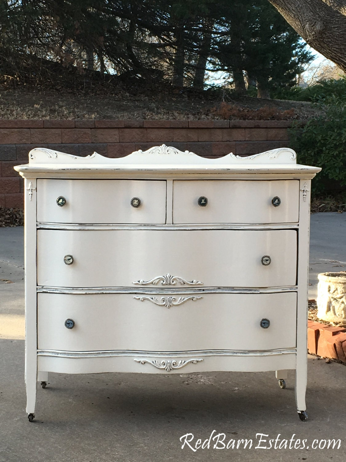 White Dresser Antique Dresser Painted The Shabby Chic
