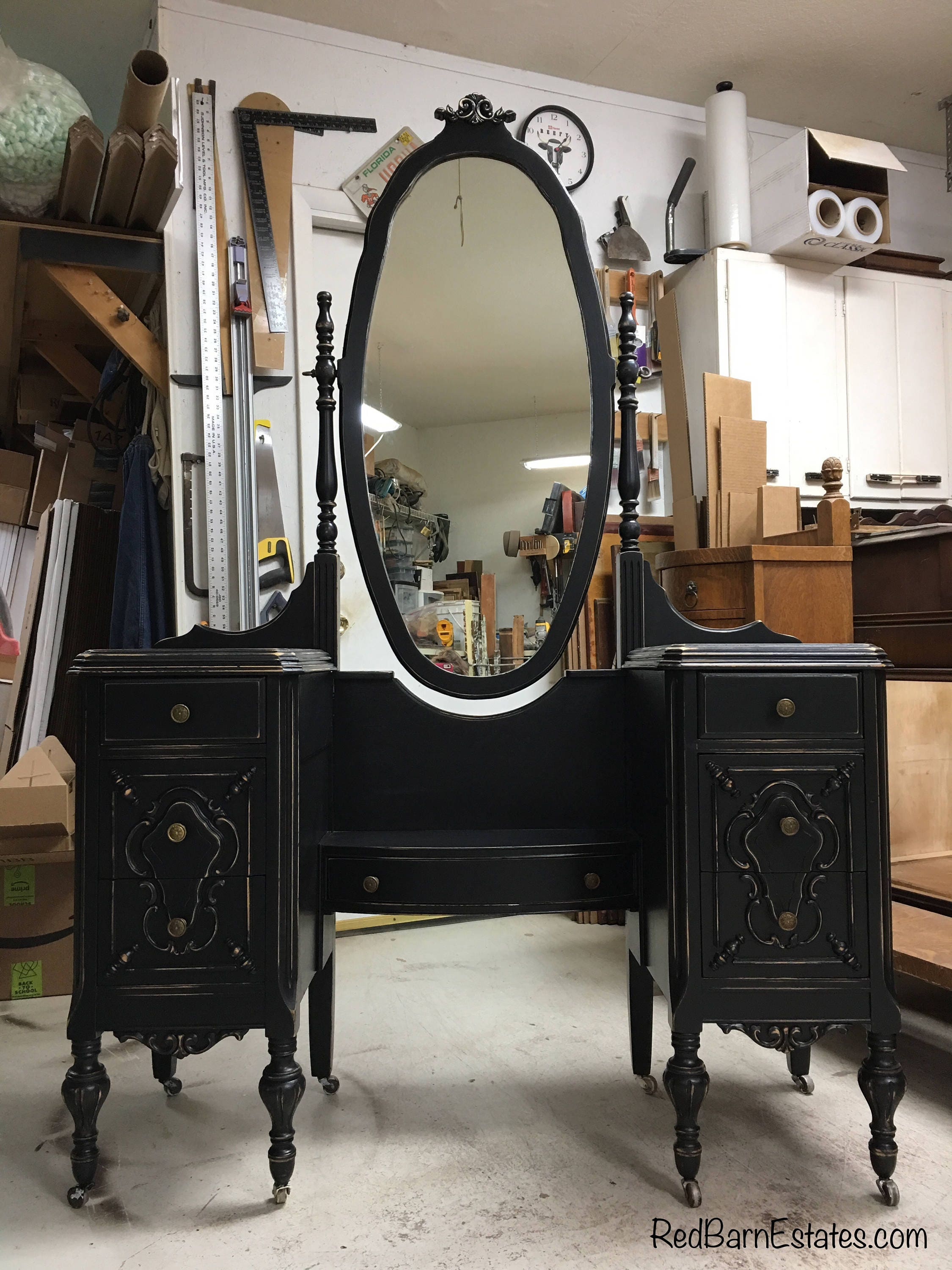 BEAUTIFUL VANITY Order Your Own Antique Painted Vanity The Shabby Chic Furniture Custom Dressing Table