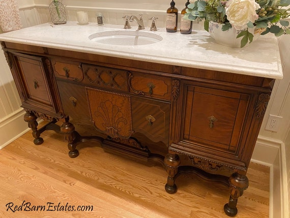 Bathroom Vanity Antique We Find Convert From Antique Etsy