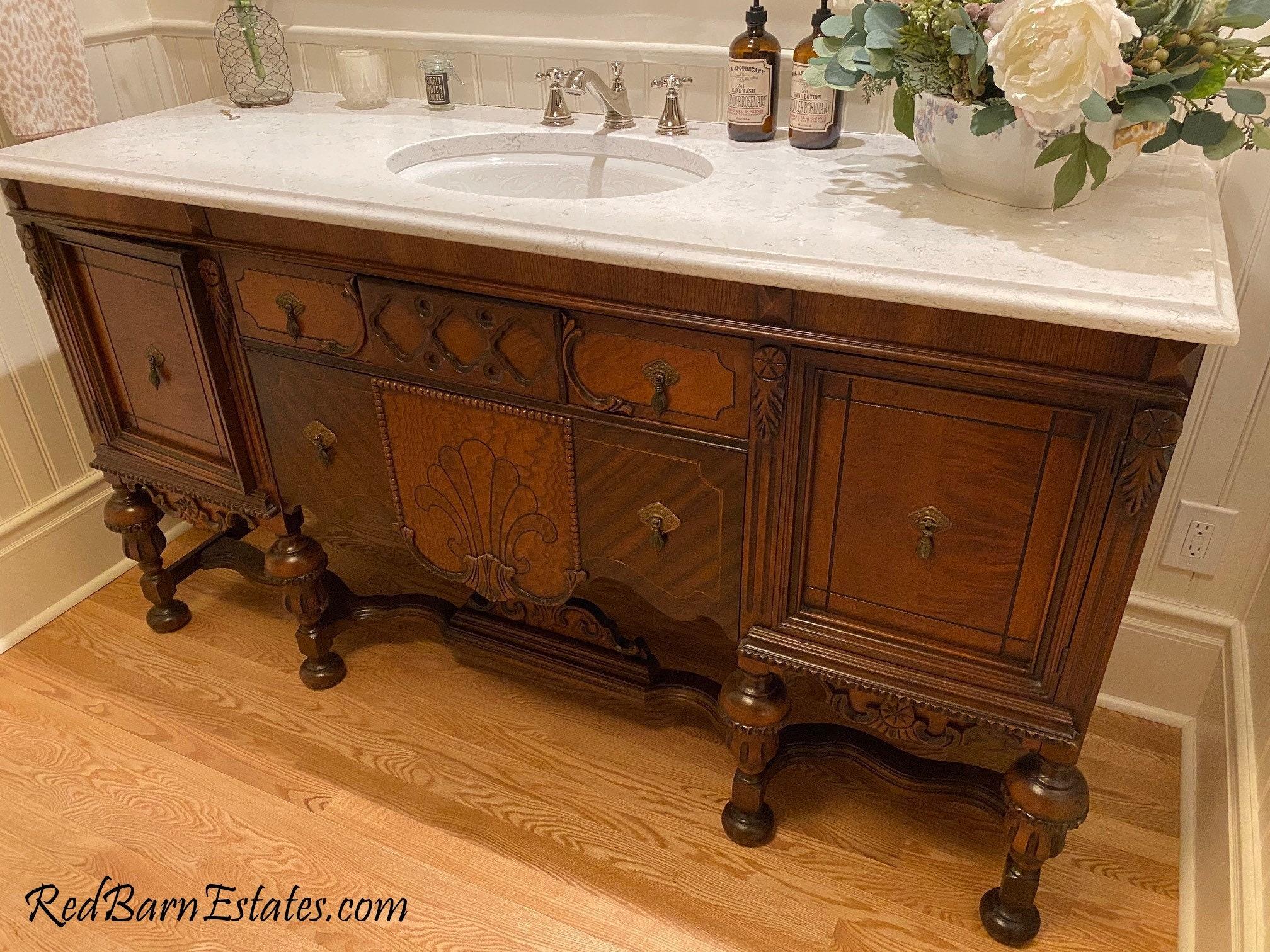 Bathroom Vanity Antique We Find, Vintage Bathroom Vanity
