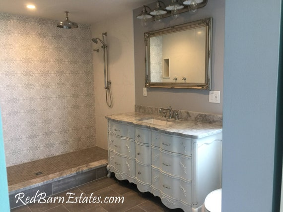 Bathroom Vanity Vintage Cabinet We Custom Convert From Vintage Etsy