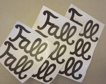 Fall vinyl stickers