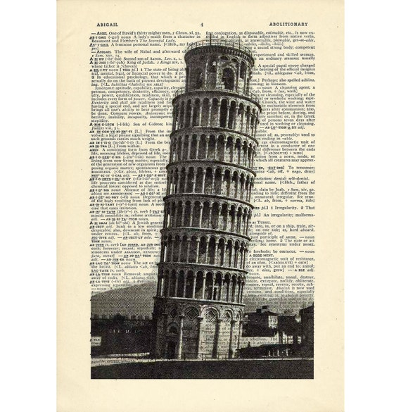 Leaning Tower Of Pisa Charm//Pendant Tibetan Antique Silver 26mm  5 Charms Crafts