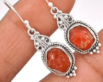 Rare Mexican Opal Rough 925 Sterling Silver Earrings hooks