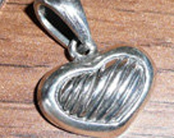 Small Sterling Heart Pendant