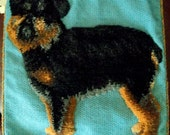 SALE Yorkshire Terrier Brussels Griffon Dog Needlepoint Pillow PRICE REDUCED